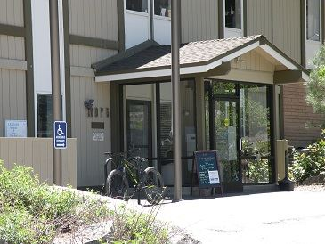 Truckee Joseph Center facade and front door with parking spots
