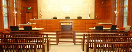 View of Courtroom from entrance