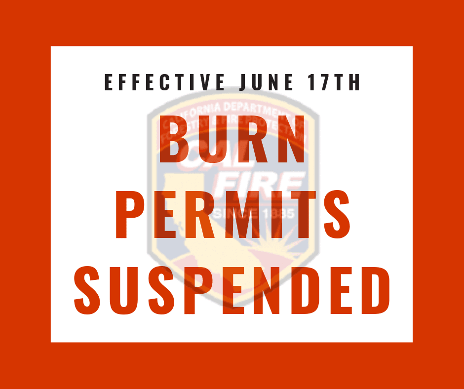 Burn Permits Suspended