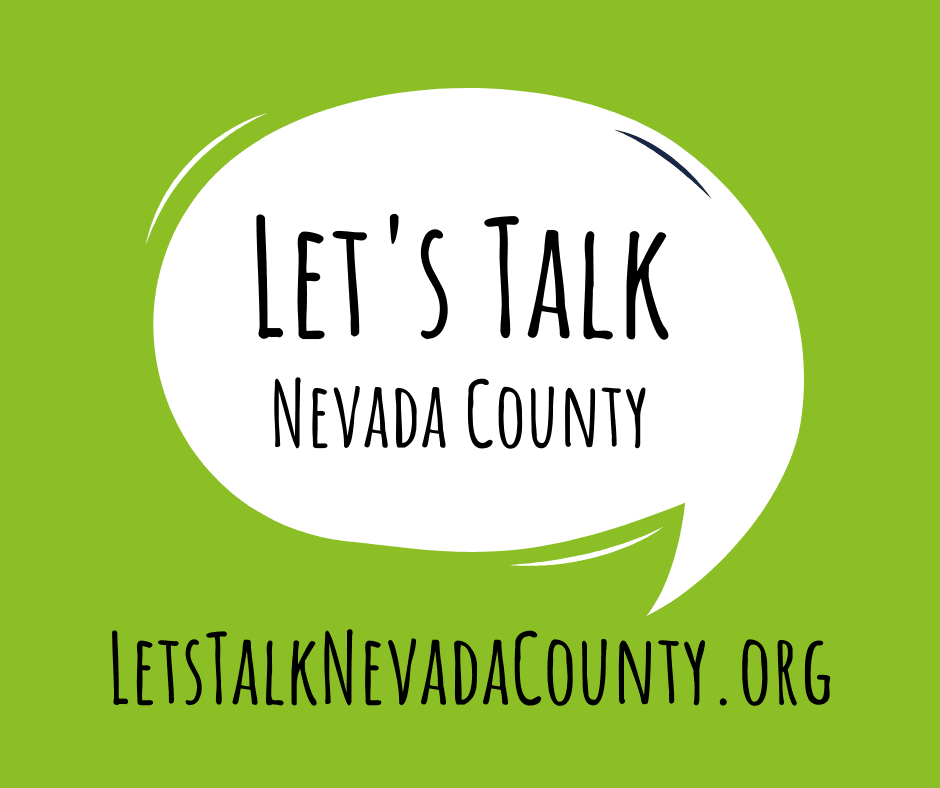 Lets Talk Nevada County Logo Green