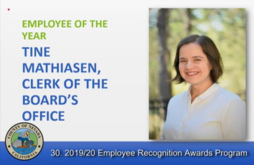 Employee of the Year Tine Mathiasen