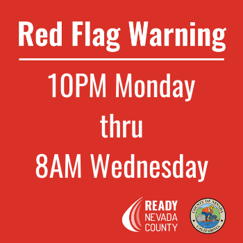 Red Flag 10PM Monday thru 8AM Wednesday