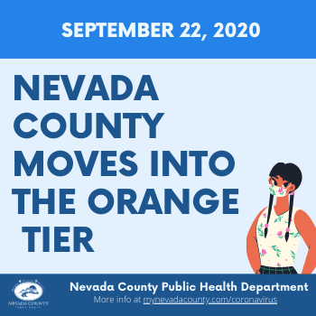 PH COVID NewsFlash - Nevada County Moves into the Orange Tier