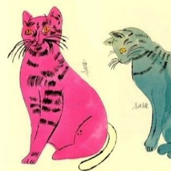 Cats, style of Andy Warhol