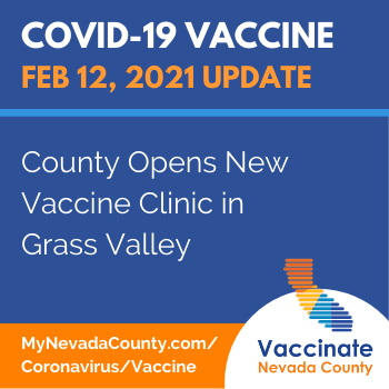 Nevada County Vaccine News: County Opens New Vaccine Clinic in Grass Valley