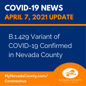 COVID-19 News graphic with dark blue background and white and orange lettering.