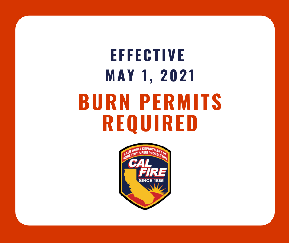 2021 Burn Permits Required